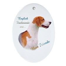 English Fox Best Friend1 Oval Ornament