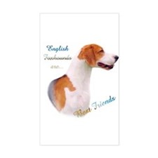 English Fox Best Friend1 Rectangle Decal
