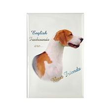 English Fox Best Friend1 Rectangle Magnet (10 pack