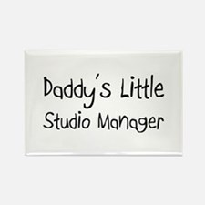 Daddy's Little Studio Manager Rectangle Magnet