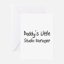 Daddy's Little Studio Manager Greeting Cards (Pk o