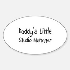 Daddy's Little Studio Manager Oval Decal