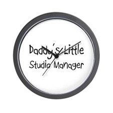 Daddy's Little Studio Manager Wall Clock