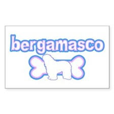 Powderpuff Bergamasco Rectangle Decal