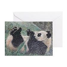 painting of panda Greeting Card
