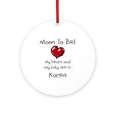 mom to be Korea adoption Ornament (Round)
