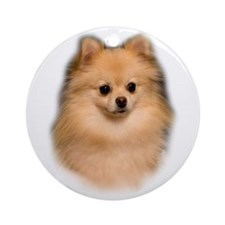 Pomeranian Portrait Ornament (Round)