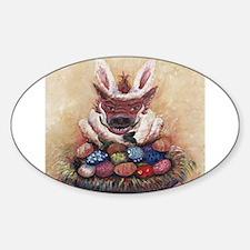 Easter Hog Oval Decal