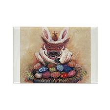 Easter Hog Rectangle Magnet