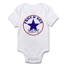 Proud Navy Son Infant Bodysuit