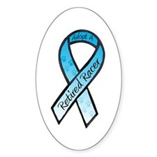 Racer Blue Oval Decal