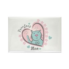 Purrfect Mom Rectangle Magnet