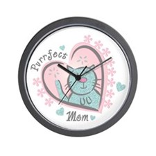 Purrfect Mom Wall Clock