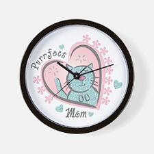 Purrfect Mom Wall Clock