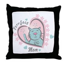 Purrfect Mom Throw Pillow