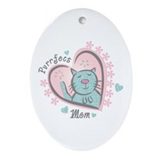 Purrfect Mom Oval Ornament