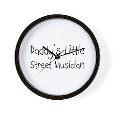 Daddy's Little Street Musician Wall Clock
