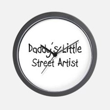 Daddy's Little Street Artist Wall Clock
