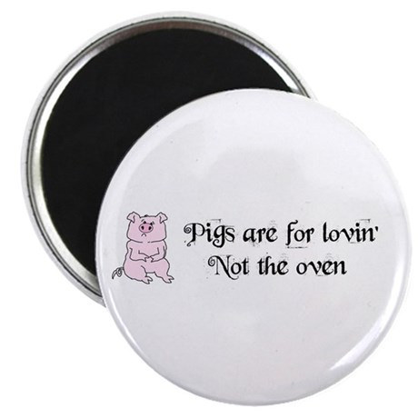 """PIGS ARE FOR LOVIN' 2.25"""" Magnet (100 pack)"""