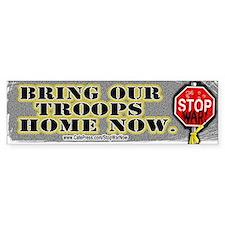 Sample Bring Our Troops Home Bumper Bumper Sticker