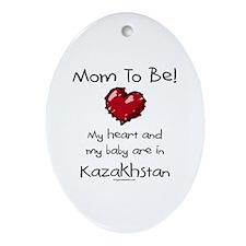 Mom to be Kazakhstan adoption Oval Ornament