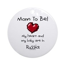 Mom to be Russia adoption Ornament (Round)