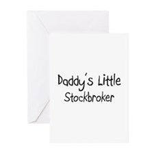 Daddy's Little Stockbroker Greeting Cards (Pk of 1