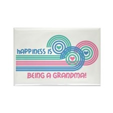 Happiness Grandma Rectangle Magnet