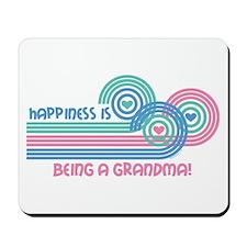 Happiness Grandma Mousepad