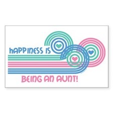 Happiness Aunt Rectangle Decal