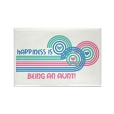 Happiness Aunt Rectangle Magnet