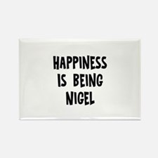 Happiness is being Nigel Rectangle Magnet