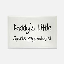 Daddy's Little Sports Psychologist Rectangle Magne