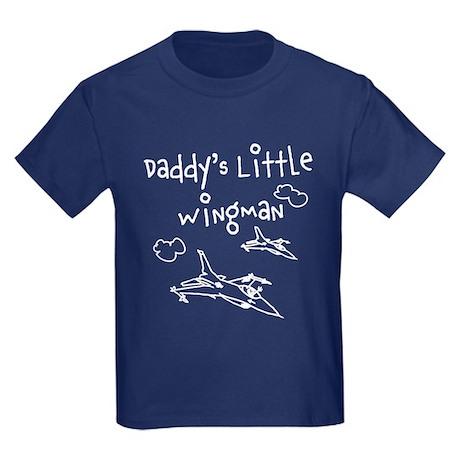 Daddy's Little Wingman Kids Dark T-Shirt