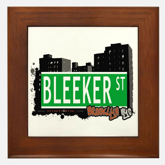 BLEEKER STREET, BROOKLYN, NYC Framed Tile