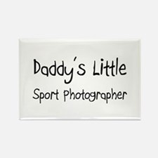 Daddy's Little Sport Photographer Rectangle Magnet