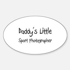 Daddy's Little Sport Photographer Oval Decal