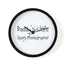 Daddy's Little Sport Photographer Wall Clock