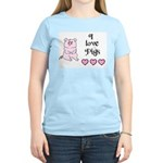 I LOVE PIGS Women's Pink T-Shirt