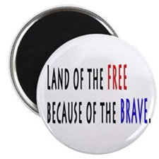 """Land of the free 2.25"""" Magnet (10 pack)"""