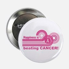 "Happiness Is Beating Cancer 2.25"" Button"