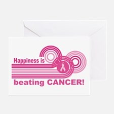 Happiness Is Beating Cancer Greeting Card