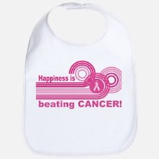 Happiness Is Beating Cancer Bib