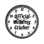 Wedding Crasher Wall Clock