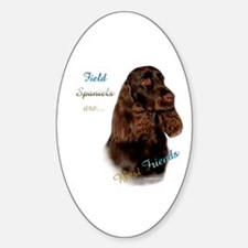Field Spaniel Best Friend1 Oval Decal