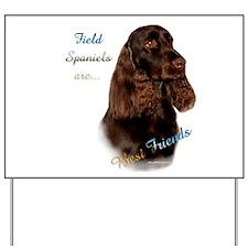 Field Spaniel Best Friend1 Yard Sign