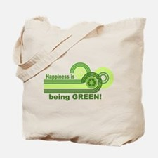 Happiness Being Green Tote Bag