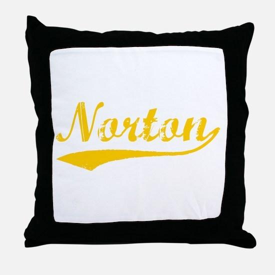 Vintage Norton (Orange) Throw Pillow