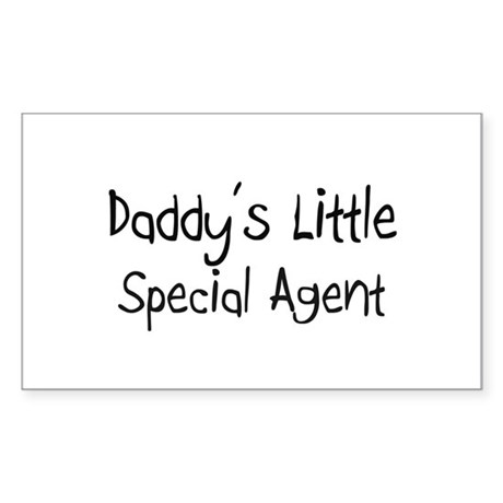Daddy's Little Special Agent Rectangle Sticker