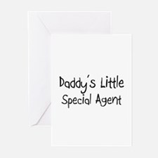 Daddy's Little Special Agent Greeting Cards (Pk of